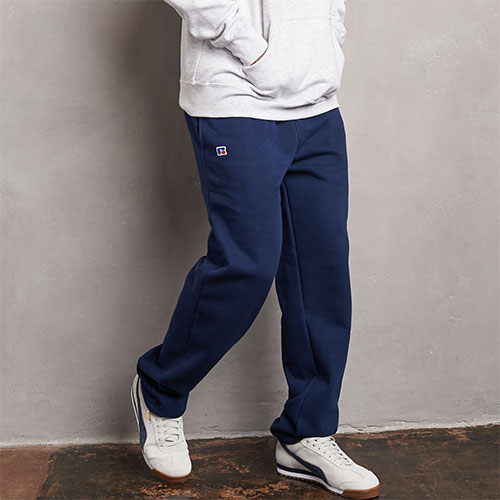 Men's Cotton Classic Open Bottom Fleece Sweatpants
