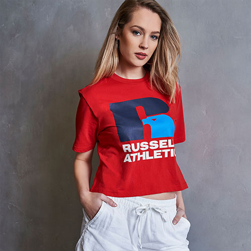 Women's Heritage Cropped Logo Graphic T-Shirt