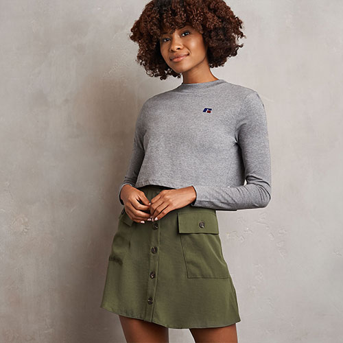 Women's Heritage Cropped Baseliner Long Sleeve T-Shirt