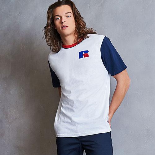 Men's Heritage Color Block Chenille Badge T-Shirt