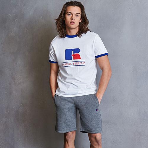 Men's Heritage Puff Print Graphic Ringer T-Shirt
