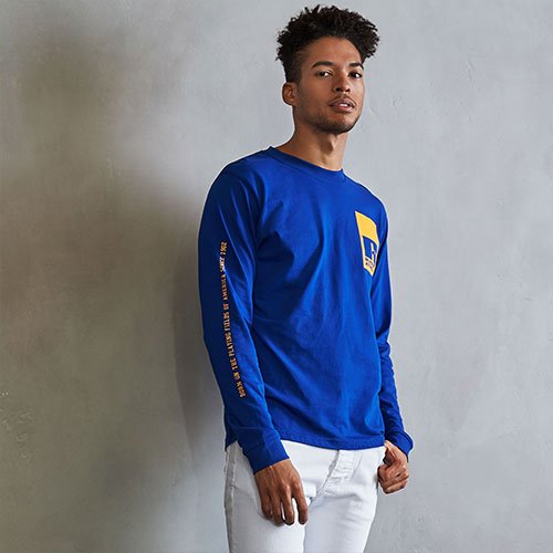 Men's Heritage Playing Fields Graphic Long Sleeve T-Shirt