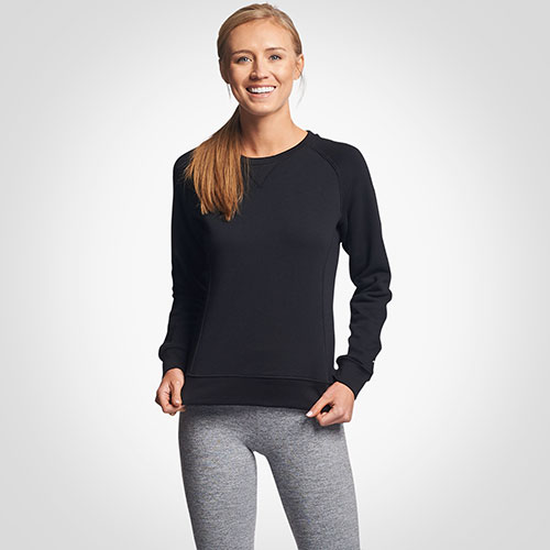 Women's Lightweight Fleece Crew Sweatshirt